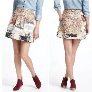 Leif Notes printed Cotton skirt, sz 8